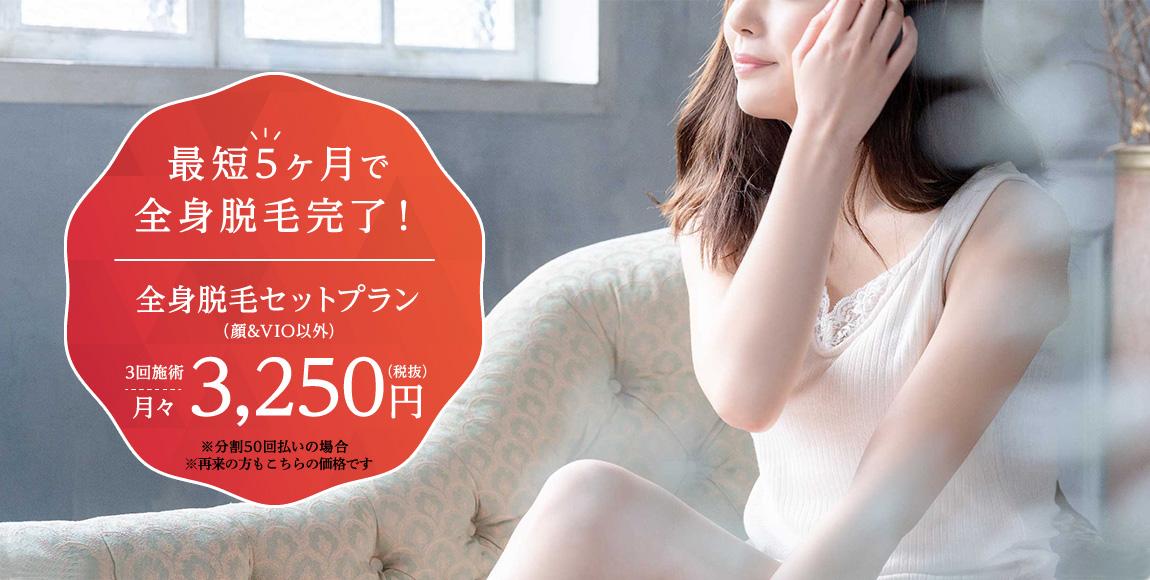 全身脱毛セットプラン 1回 ¥19,800